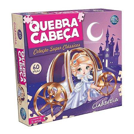 QUEBRA CABEÇA CARTONADO CINDERELA