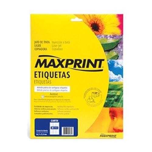 ETIQUETA LASER REF.6280 MAXPRINT 25FLS