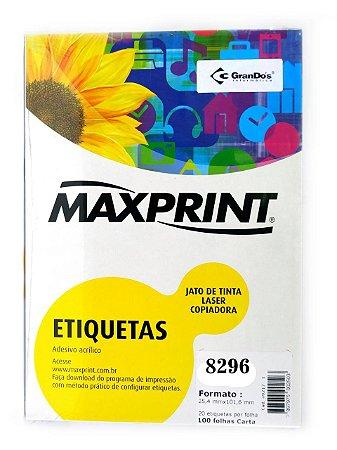 ETIQUETA LASER REF.8296 MAXPRINT 25FLS