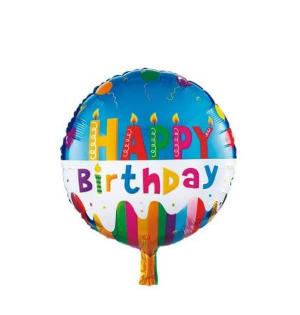 """BALAO METALIZADO HAPPY BIRTHDAY 18"""""""