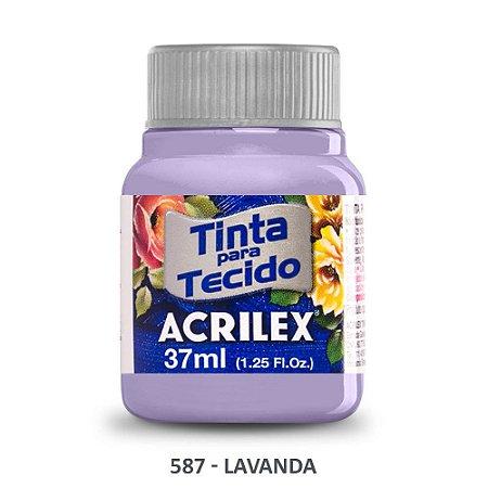 TINTA P/TECIDO ACRILEX REF:587 LAVANDA