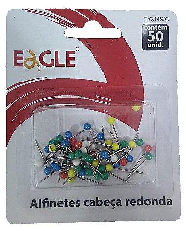 Alfinete para Mapa Cabeça Redonda Eagle TY314S/C