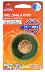 FITA DUPLA FACE EXTRA FORTE 19MMX1,5M EUROCEL VERDE
