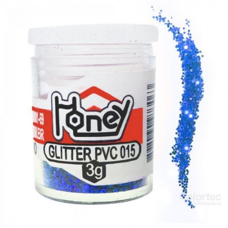 GLITTER PVC AZUL ROYAL POTE 3G HONEY