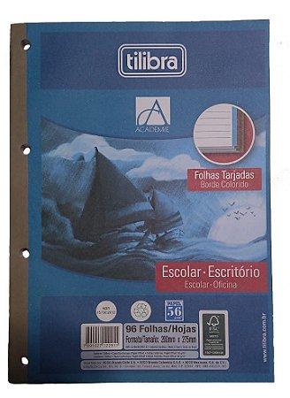 CADERNO P/FICHARIO TARJADO TILIBRA 96FLS