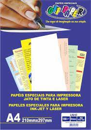 PAPEL LINHO BRANCO 180G OFF PAPER