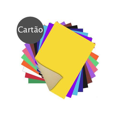 PAPEL CARTAO FOSCO CORES 200G