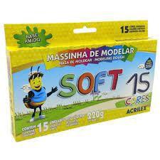MASSA DE MODELAR 15 CORES SOFT