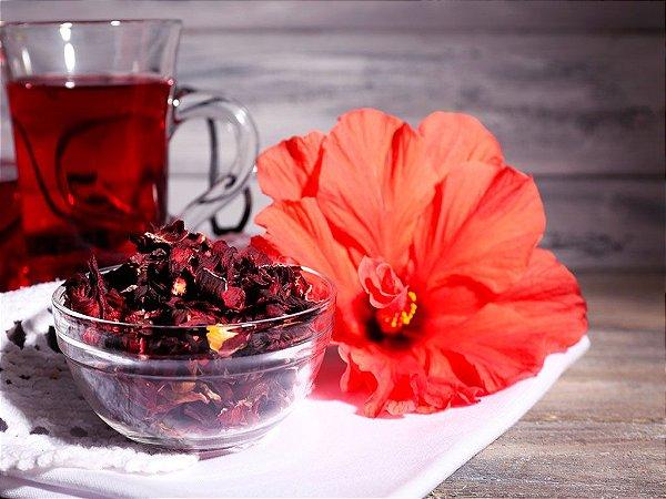 Hibisco (Hibiscus sabdariffa) - Flores desidratadas