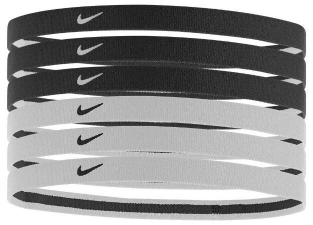 HAIRBAND NIKE PACK 6  PRETO E BRANCO