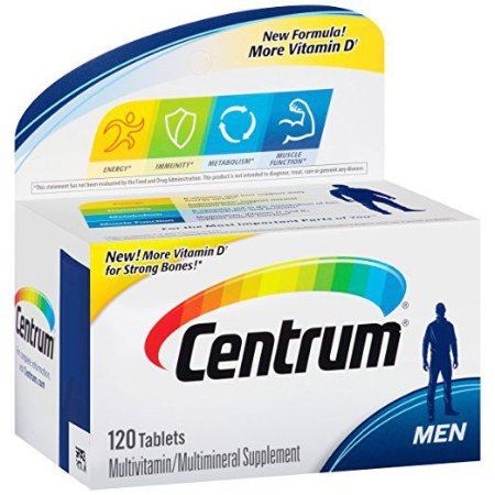 COMPLEXO VITAMÍNICO CENTRUM MEN 120 TABLETES