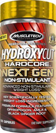 HYDROXYCUT HARDCORE NEXT GEN NON-STIMULANT 150 CAPSULAS