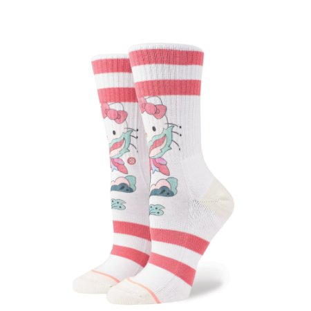 MEIA STANCE FULL BLOOM HELLO KITTY