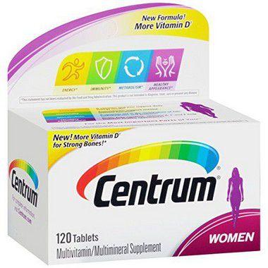 COMPLEXO VITAMÍNICO CENTRUM WOMEN 120 + 20 TABLETES