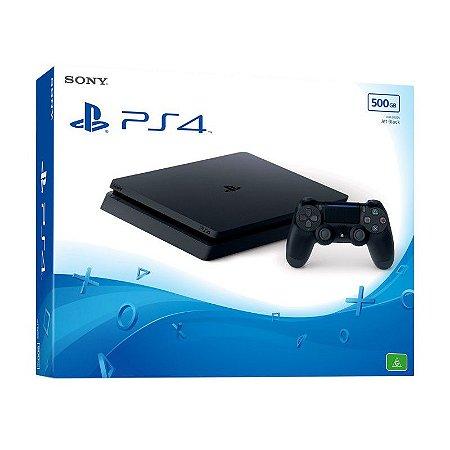 Sony Playstation 4 Slim 500GB Preto Com jogo Brinde