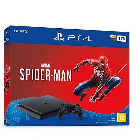 Sony Playstation 4 Slim 1TB Bundle com Spider-Man