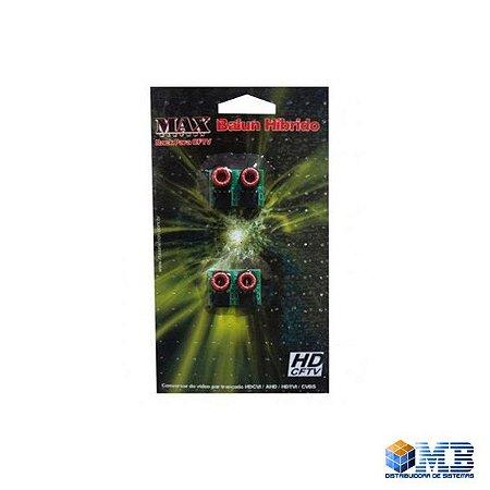 Conversor Balun Para Rack Hibrid Max Eletron Com 4 Pcs - 2273