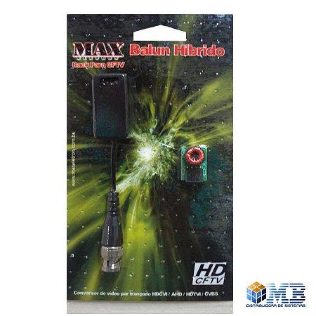 Conversor Balun DVR e Câmera Hibrido Max Eletron - CODIGO 4473 E 5078