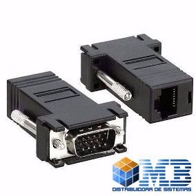 Kit com 2 Conversores de RJ45 Para VGA - SWADP45M