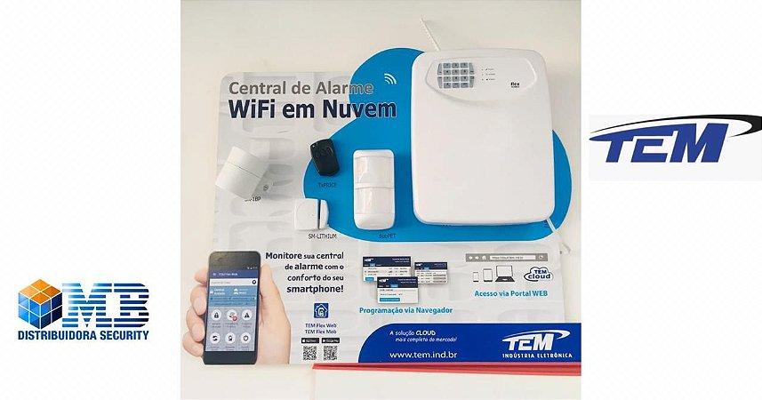 Alarme Residencial Monitorado Flex 1080 Wifi Tem