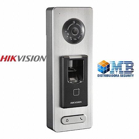 Video Porteiro IP Hikvision Dsk1t501sf Com Leitor Biométrico E CARTÃO
