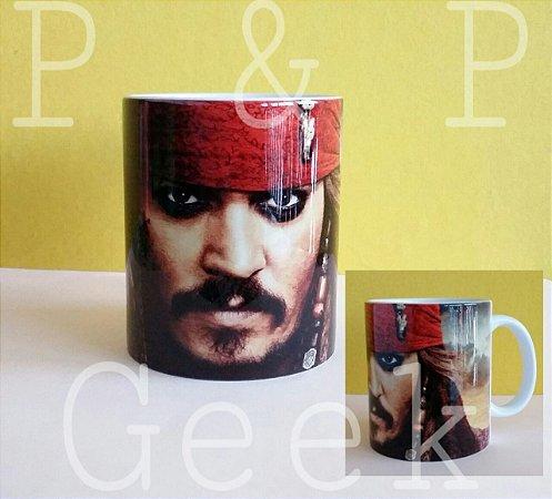 Caneca Piratas do Caribe - Jack Sparrow