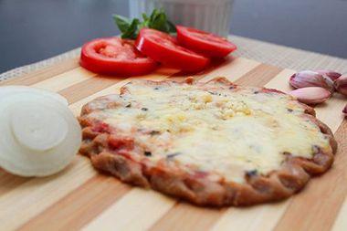 Mini pizza de Mussarela com Frango