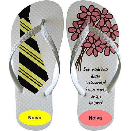 6ee7d2610778b6 Chinelo de Casamento /Padrinho / Madrinha