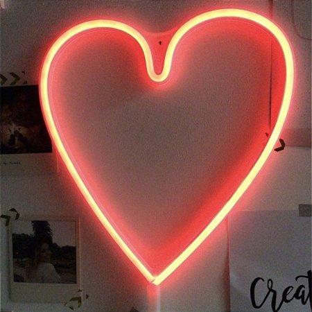 Luminária neon Coração
