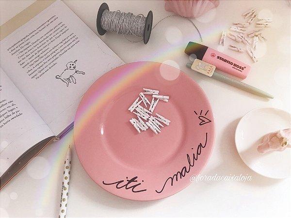 Coleção Pink Já! - Prato de sobremesa Iti Malia