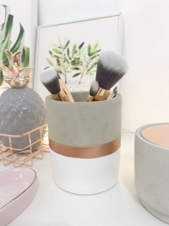 Porta Pincel (vaso) Cimento: Modelo Industrial