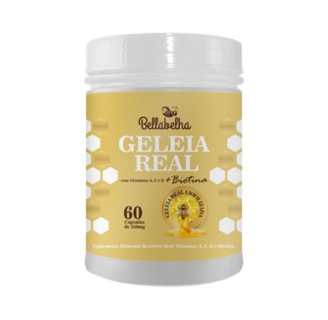 Geleia Real Liofilizada com Biotina|Bellabelha 60 Cáps