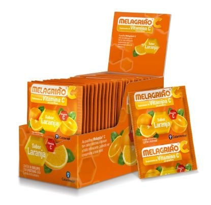 Melagrião Vitamina - Sabor Laranja - 24 Envelopes com 5 Pastilhas