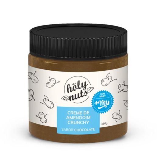 Creme de amendoim chrunch chocolate  Holy nuts 450G
