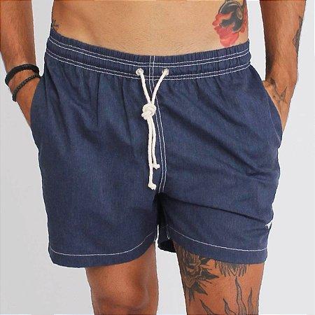 Short Liso - Azul  Jeans