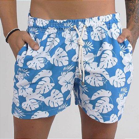 Short Estampado - Florido azul
