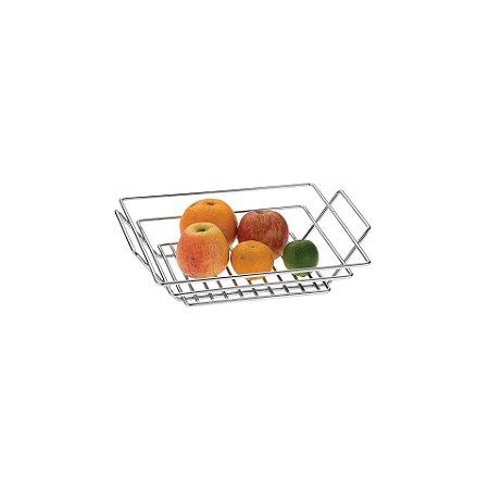 Schmitt Aramados - Fruteira de Mesa Quadrada Ingrid 34 x 9 cm - Cromado