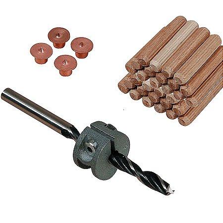 Wolfcraft - Conjunto para cavilhar de ø 10 mm  (Centralizadores de Cavilha) - 28 pçs 2918000