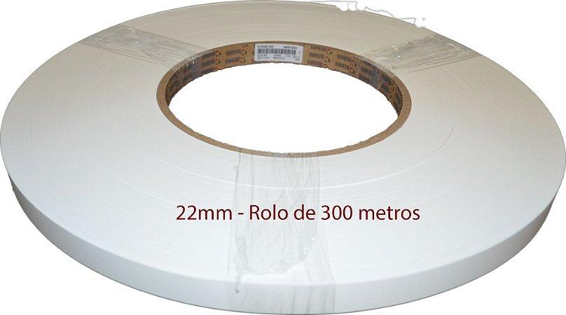 Fita de Borda p/ Móveis 22X0.45MM - 300M - Cor: BRANCO 13449 BRANCO REHAU P718