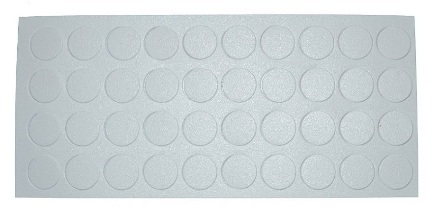 Tapa Furo 12mm (Cartela c/40 TF) Cor: BRANCO 13449 REHAU P718