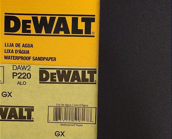 DeWalt - Lixa Agua Oxido de Aluminio G 220 230x280mm