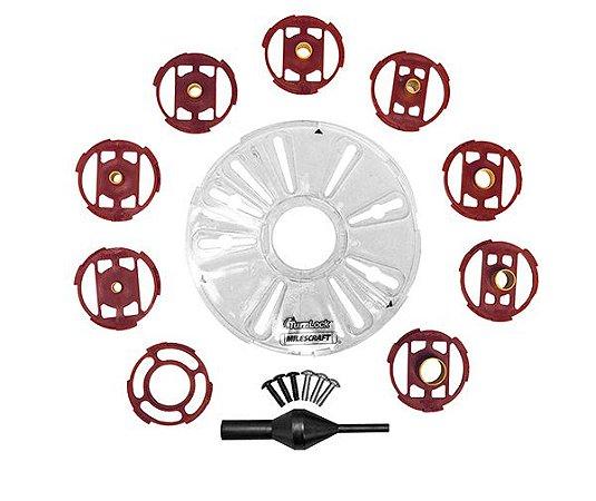 Milescraft - Guia copiador p/ Tupias de Coluna c/ Buchas de Metal - 1201 - BasePlate/BushingSet