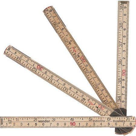 VONDER - Escala métrica de madeira com 1 m