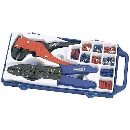 DRAPER - Alicate p/ Cortar Fios e p/ Crimpagem (33079) Crimping & Wire Stripping Kit
