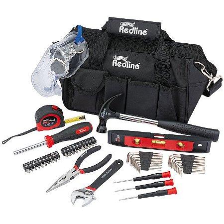 DRAPER - Mala de Ferramentas c/ 46 pçs (68967) Tool Kit Red Line