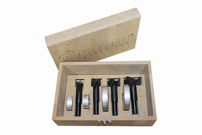 ZINNI - Kit Fresas Widea 15, 20, 26 e 35 mm + Limitadores - Aluzini