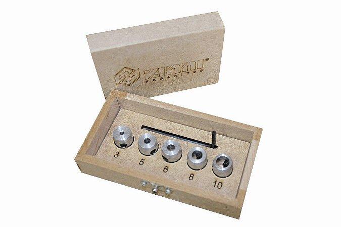 ZINNI - Kit Limitadores de profundidade de Brocas 3,5,6,8 e 10 mm - Aluzini