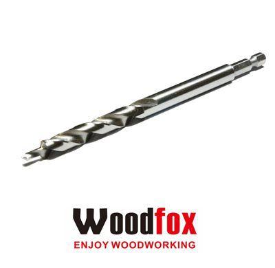 WOODFOX - Pocket Hole Drill 3/8 - Broca Escalonada c/ Encaixe Rápido MPDBT