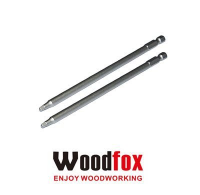 WOODFOX - Pocket Hole Square Drive Bit Nº 2 - Jogo Pontas c/ 2 Bits 6 in 15cm MPSD