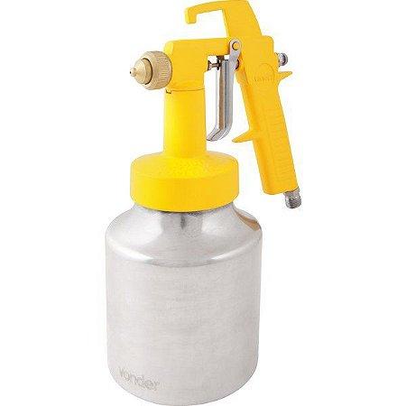 VONDER - Pistola para pintura com caneca em alumínio tipo sucção ar direto PDV 100